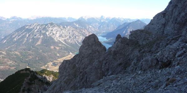 Blick auf den Heiterwanger See aus der Nordwand