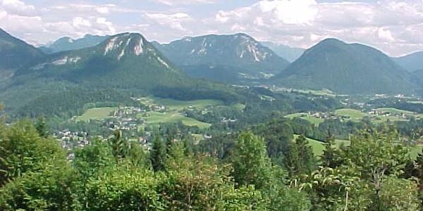 Blick von der Ruine Pflindsberg ins Ausseerland