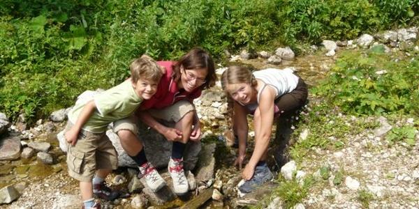 Wassererlebnis am noch jungen Zimitzbach