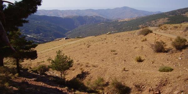 Auf dem GR 7 bei Trevélez - Blick nach Süden