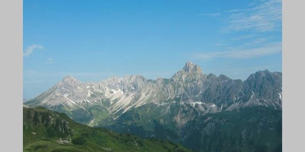 Schöner Ausblick auf dem Golmer Höhenweg