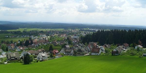 Ausblick vom Vogteiturm über Lossburg