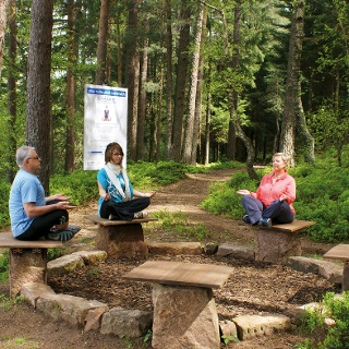 Station am Yoga-Natur-Pfad