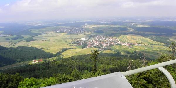 Panoramablick vom Lembergturm
