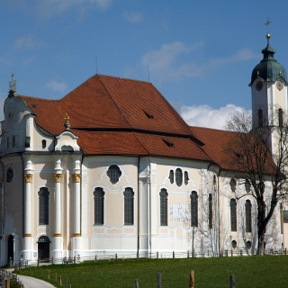 Die Wieskirche südlich von Steingaden.