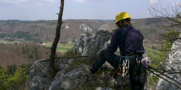 Kletterer am Schaufelsen
