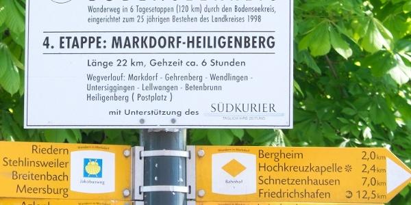 Ausgangspunkt der 4. Etappe des Jubiläumsweges Bodenseekreis