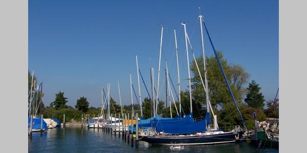 Der Hafen in Immenstaad.