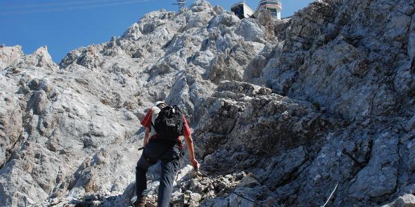 Im letzten Teil des Klettersteigs