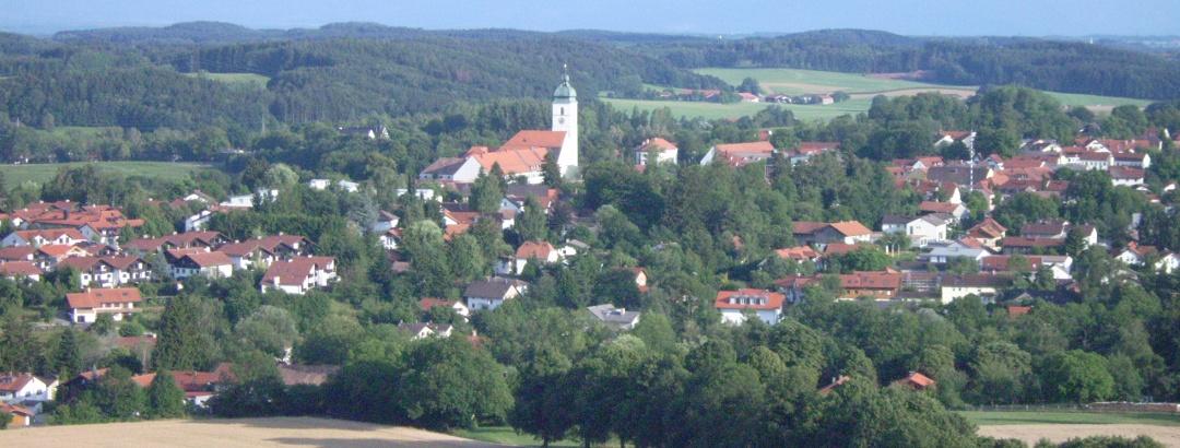 Blick auf Ebersberg vom Aussichtsturm