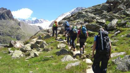 Gleich hinter dem Taschachhaus: Der Gletschersteig