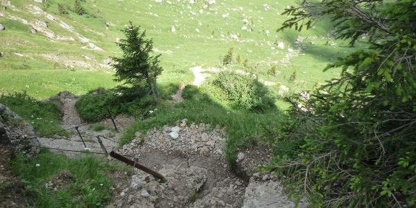 Steilstufe Brunnenauscharte