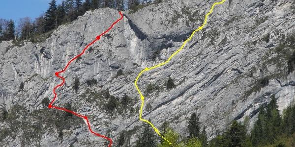 """Übersicht: gelb: """"Gelobtes Land"""" - rot: """"Atemlos"""""""