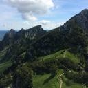 Am Kamm in Richtung Brauneckhütte.