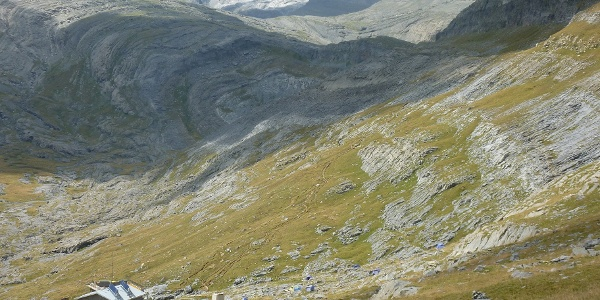Refugio Góriz vom Aufstieg zum Monte Perdido