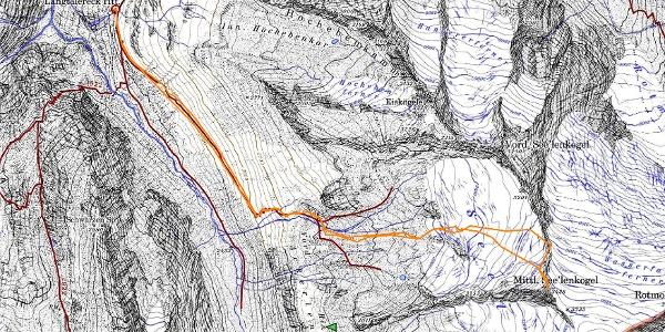 Ausschnitt AV-Karte Obergurgl