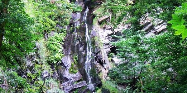 Wasserfall in Wasserfall (Plästerlegge)