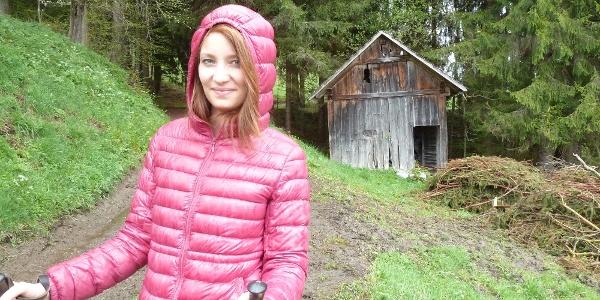 Holzhütte beim Zametterbach