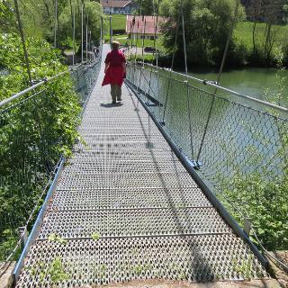 Hängebrücke über die Iller