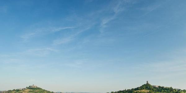 Burg Gleiberg und Burg Vetzberg erreicht man auf den Etappen 9 und 10