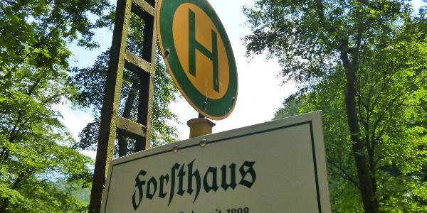 Haltestelle der Kirnitzschtalbahn am Hotel Forsthaus