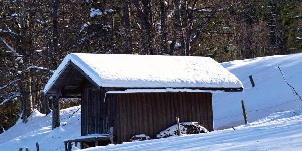 Kamm: Jagdhütte am Rehboden