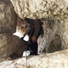 Tunnel auf dem Gamsband beim Abstieg