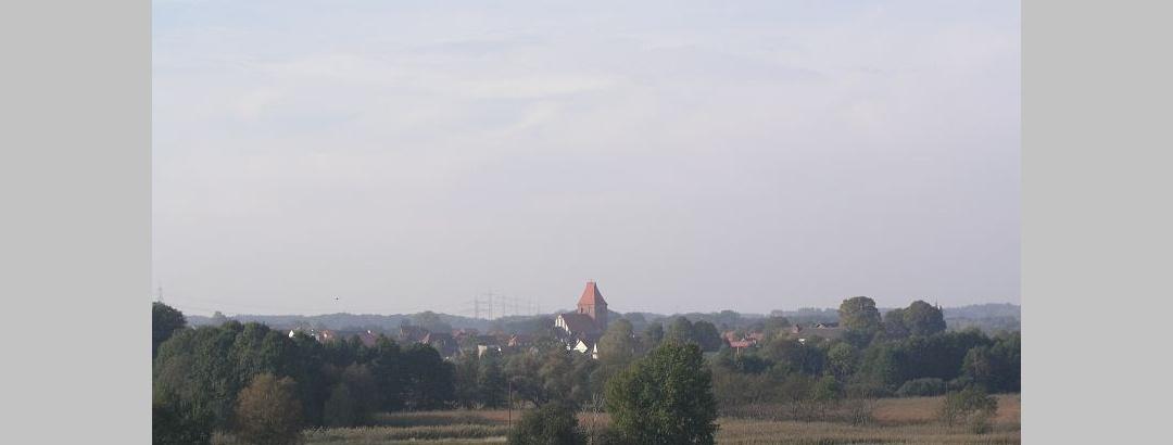 Die Landschaft bei Crivitz.
