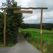 Eingang zum Trail in Höfen