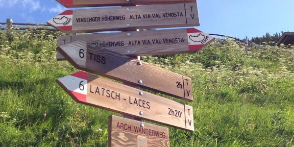 Startpunkt: Die Bergstation der Seilbahn