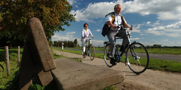 Radfahrer an der Strecke