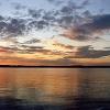 Abendstimmung am Wolziger See.