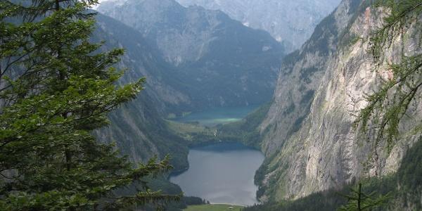 In der Röth - Blick auf Obersee und Königssee.