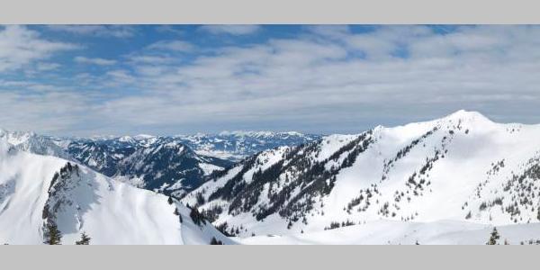Allgäu Panorama vom Gipfel