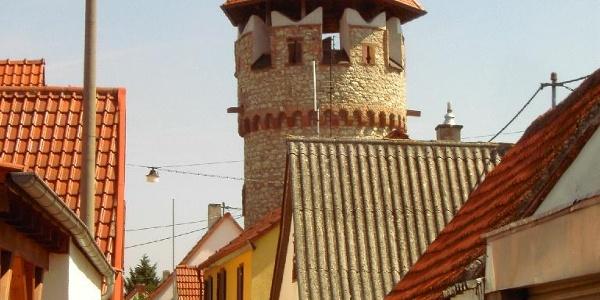 Der Bürgerturm in Pfeddersheim.