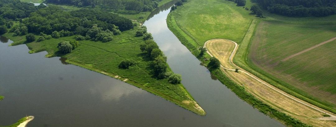 Mündung der Saale in die Elbe