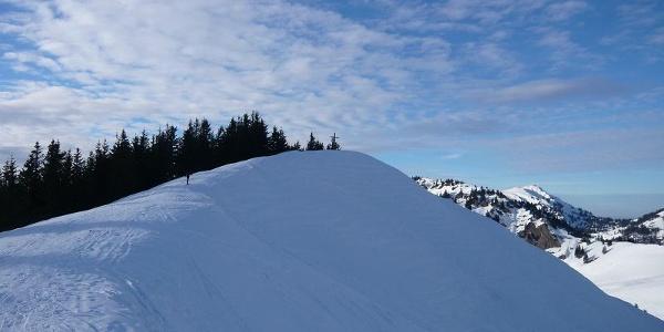 Gipfel Bleicher Horn im Winter