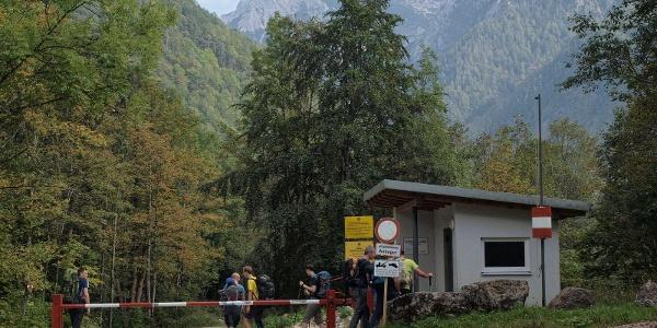 Eingang zum Truppenübungsplatz
