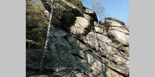 Blick nach Norden von den Rinsleyfelsen.
