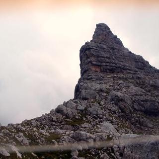 Ramesch Westgipfel 2110m von der Frauenscharte gesehen.