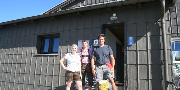Axel zu Gast auf der Fischerhütte.
