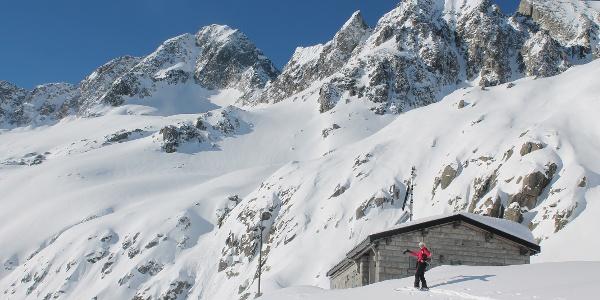 Hütte im Val MIlar, unser Pausenplatz