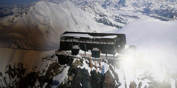 Die Capanna Regina Margherita auf dem Gipfel der Signalkuppe