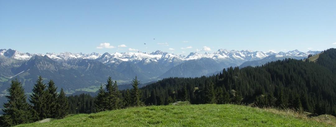 Blick auf die Lechtaler Alpen.