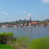 Lauenburg/Elbe vom gegenüberliegenden Elbufer aus
