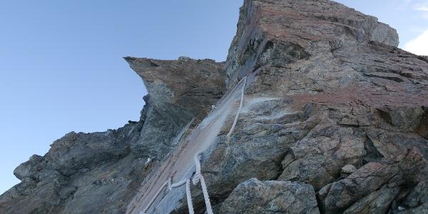 Kletterpassage am Pollux