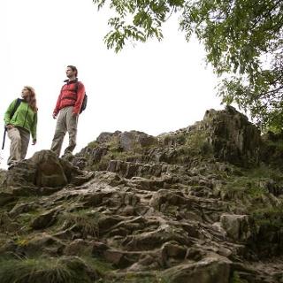 Wanderer am Königsstuhl