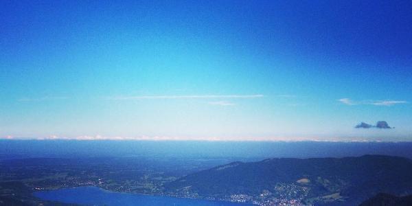 Blick vom Hirschberg-Gipfel