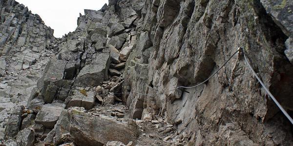 Klettersteig, Detail