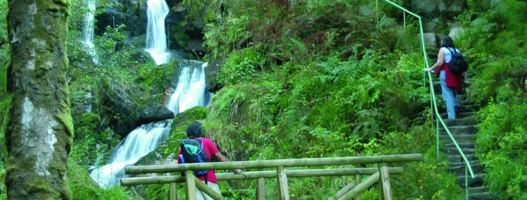 Die Gertelbach-Wasserfälle.